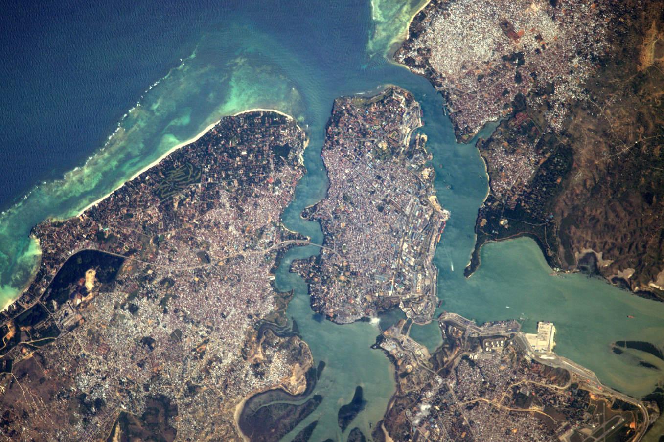 La Terre dans l'oeil de Thomas Pesquet #61 : Mombasa au Kenya