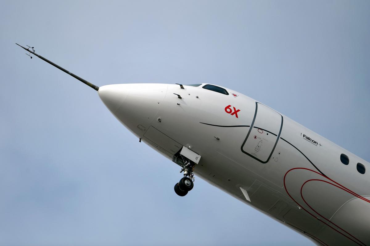Le second Dassault Falcon 6X effectue son premier vol