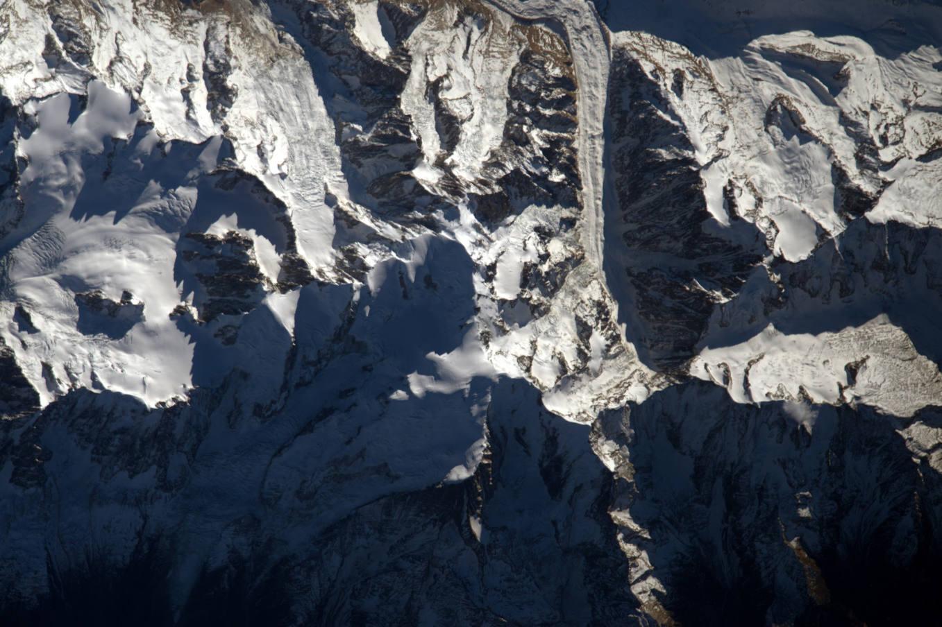 La Terre dans l'oeil de Thomas Pesquet #9 : le mont Blanc