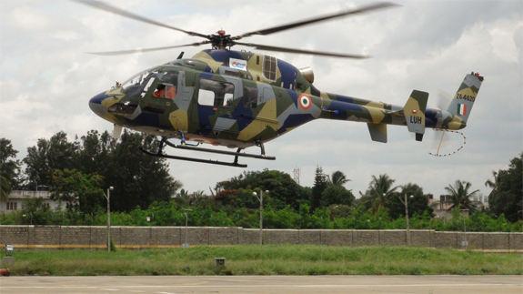 Premier vol de l'hélicoptère indien LUH