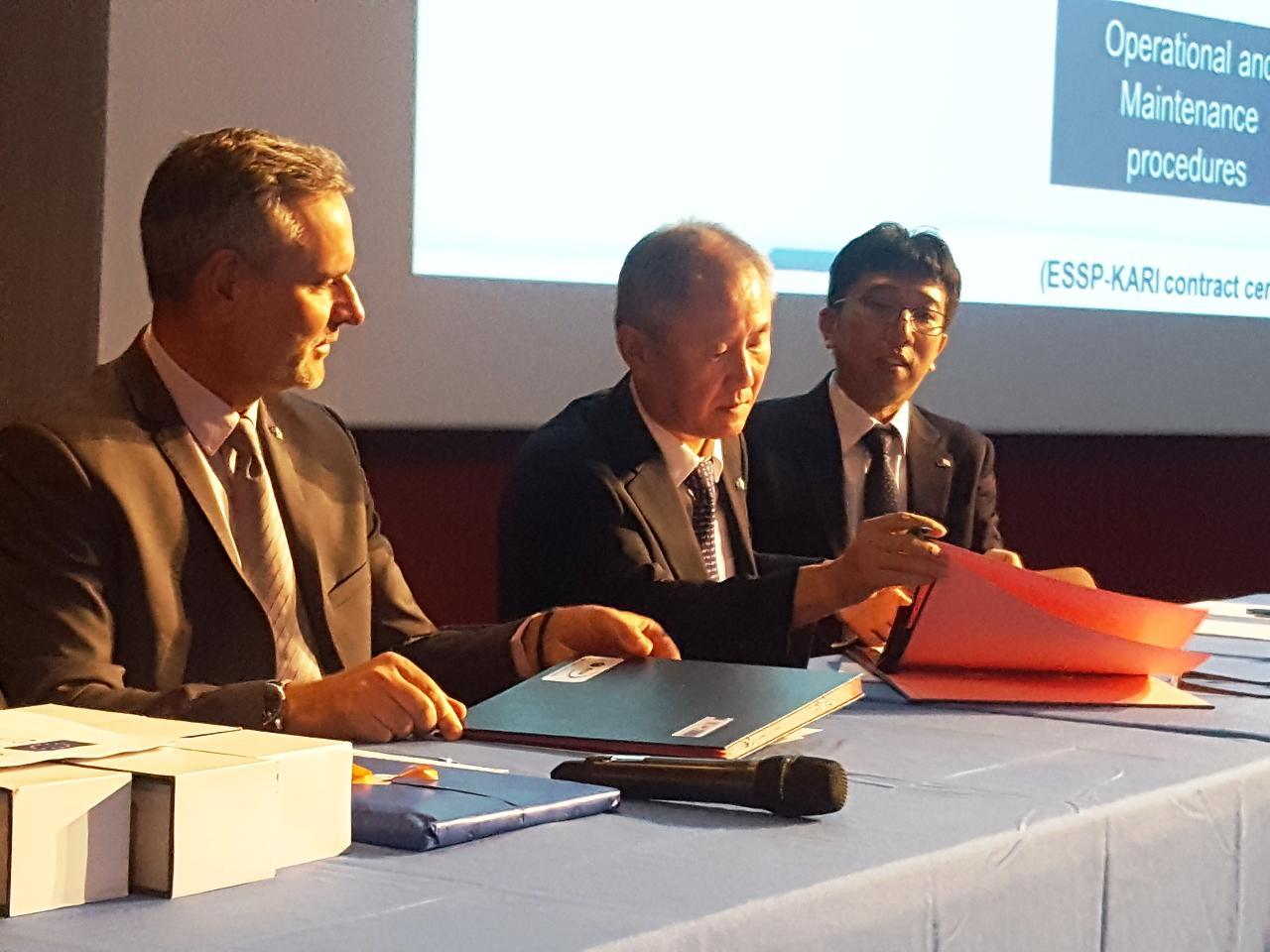 L'ESSP signe un contrat avec la Corée du Sud