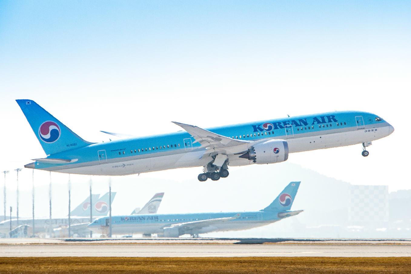 Korean Air a inauguré son premier vol international en Boeing 787-9