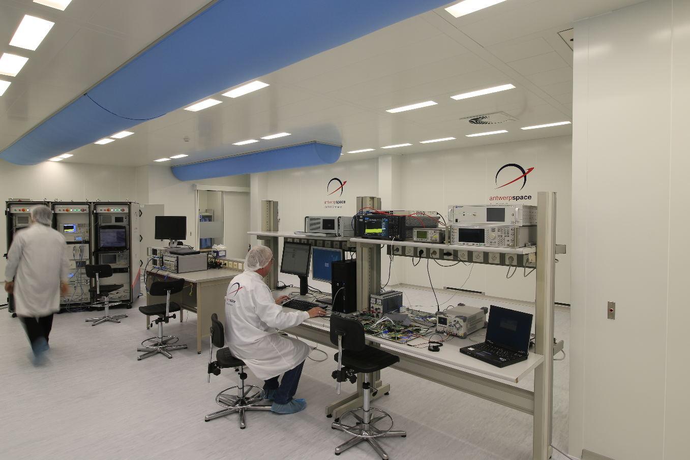 Une nouvelle salle blanche pour Antwerp Space