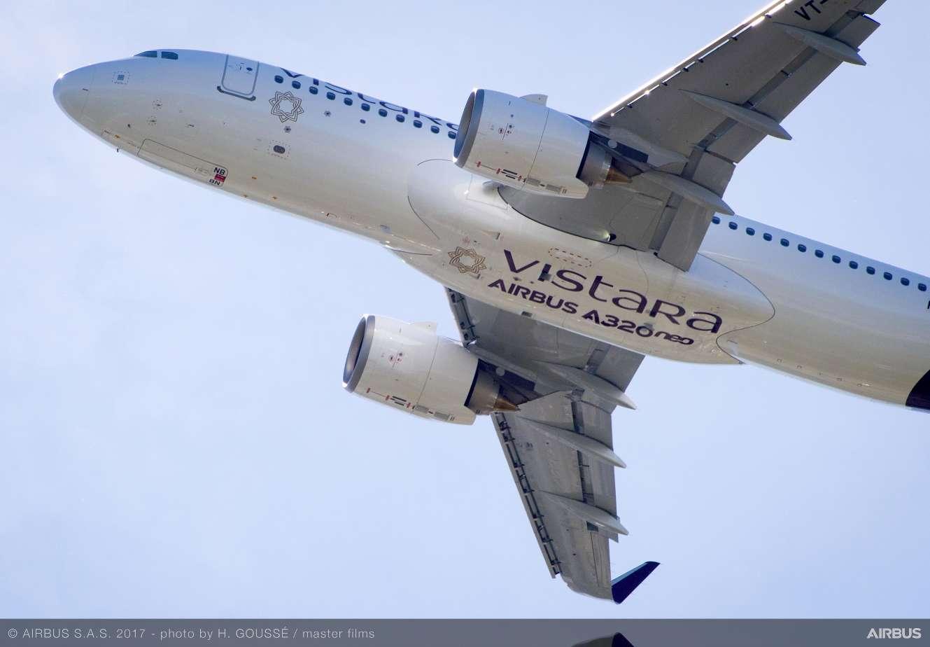 Premier Airbus A320neo pour Vistara