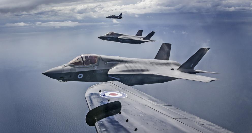 L'image : Les F-35B arrivent au Royaume Uni