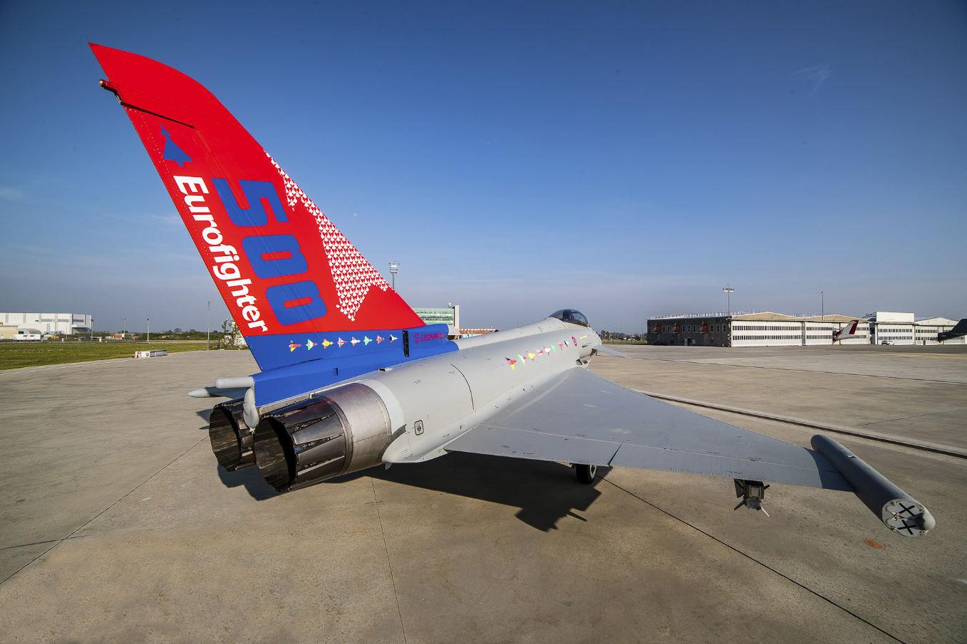 Remise du 500ème Eurofighter Typhoon à l'armée de l'air italienne
