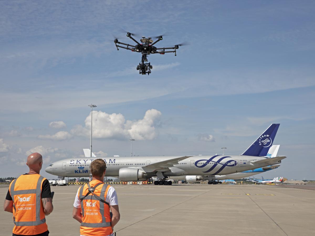 Inspections par drones sur l'aéroport de Schiphol