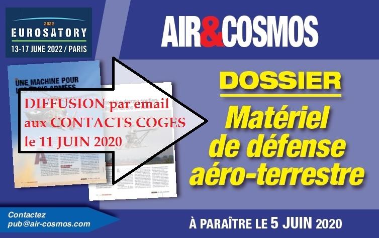 Défense aéroterrestre : dossier envoyé aux 170 000 contacts COGES le 11 juin prochain.