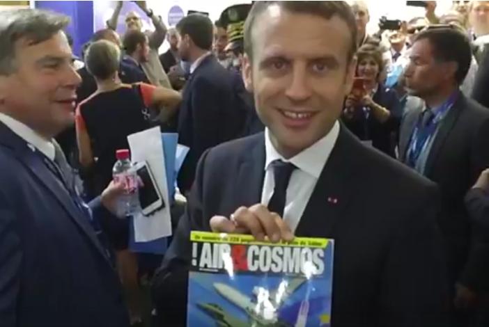 Emmanuel Macron, fidèle lecteur d'Air&Cosmos
