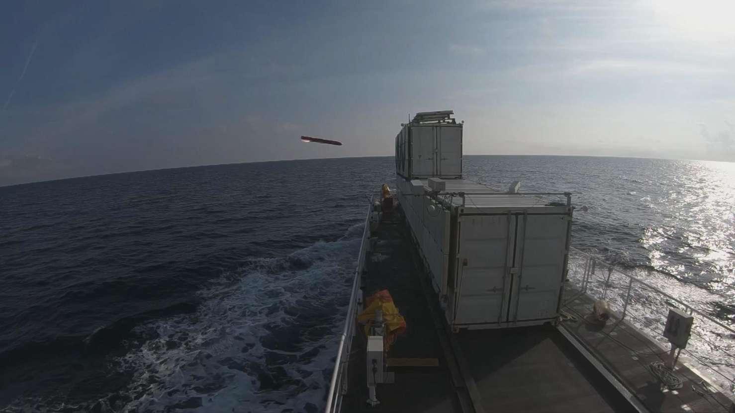 Nouveau tir d'essai du missile MBDA Sea Venom-ANL