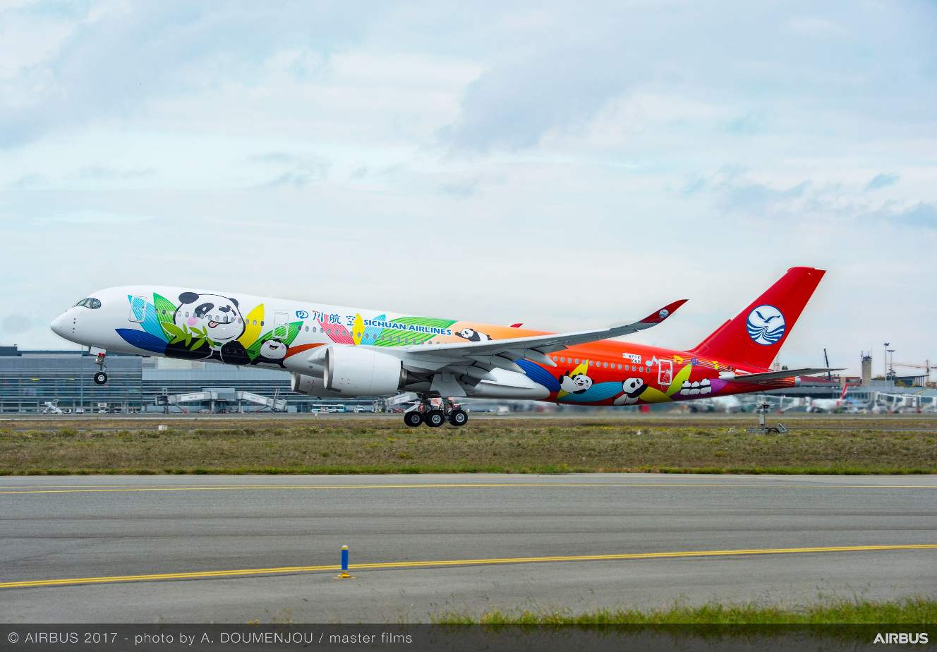 Air China, Sichuan Airlines get first A350-900s