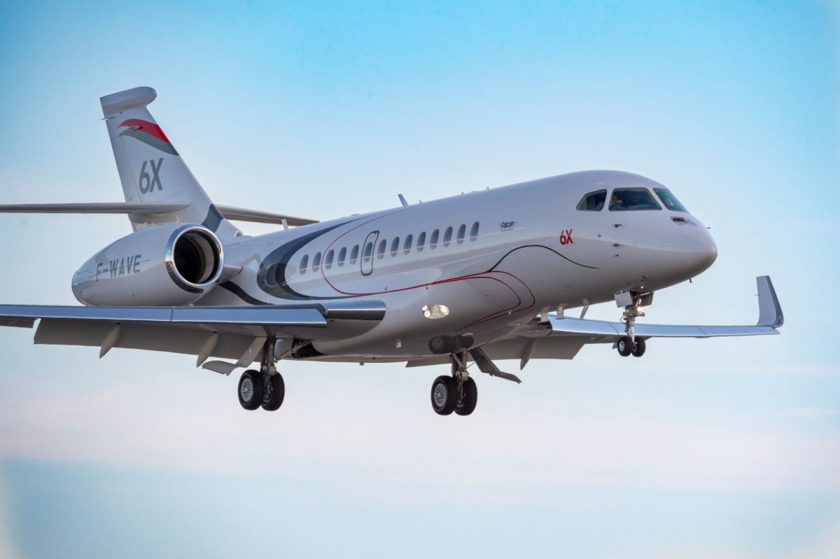 Un troisième Dassault Falcon 6X rejoint la campagne d'essais en vol