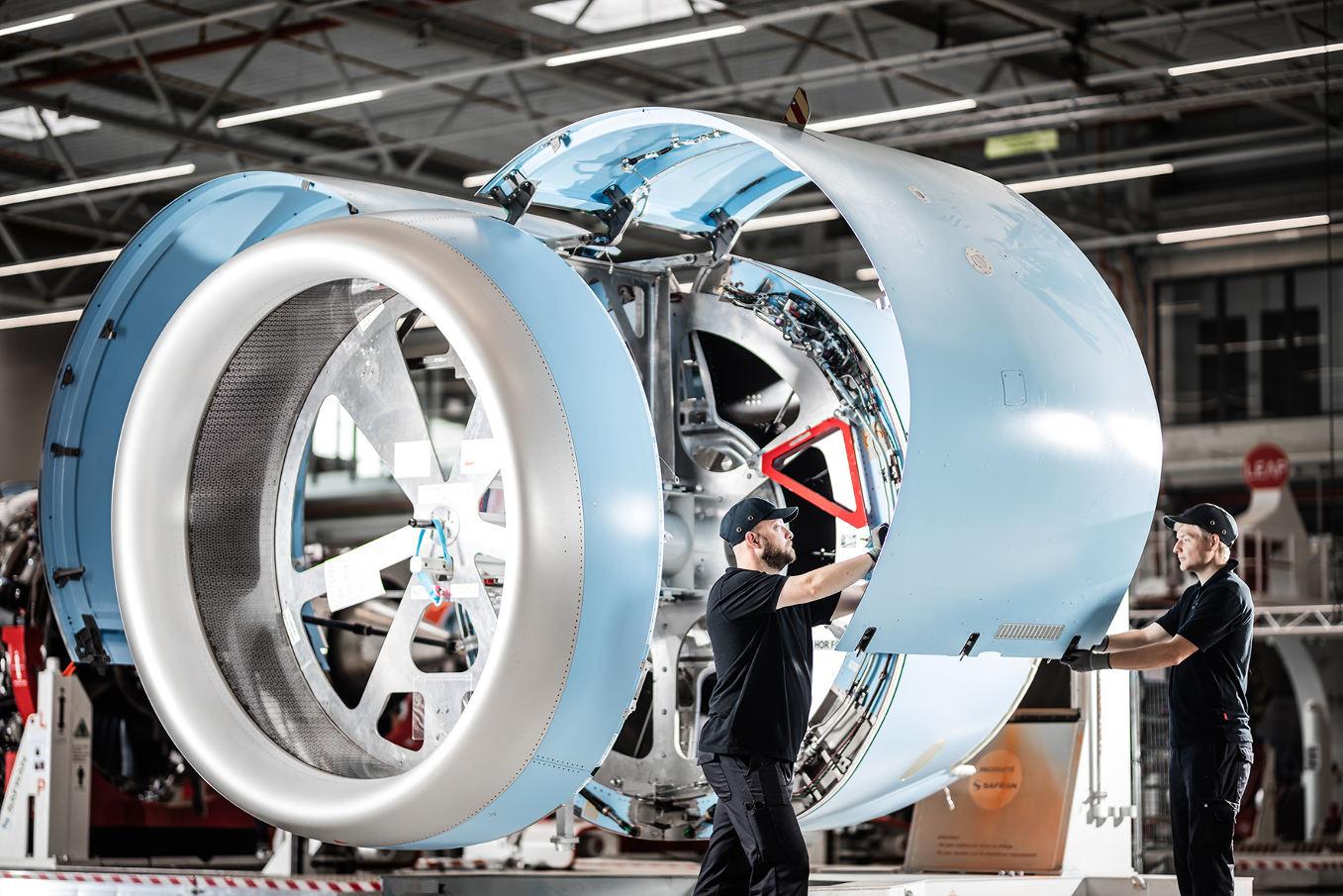 Safran inaugure à Hambourg un nouveau site d'intégration de nacelles pour l'A320