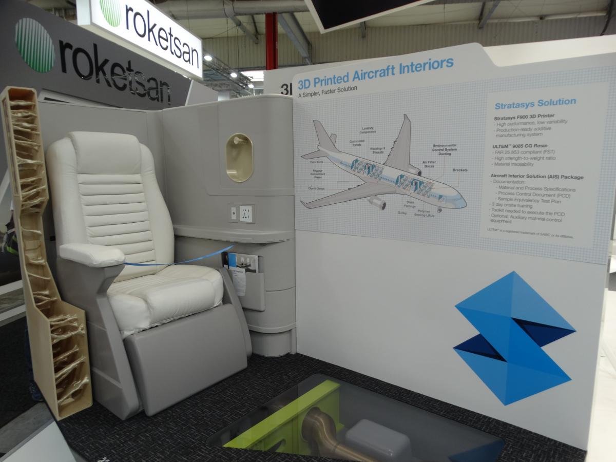 Bourget 2019 : Stratasys propose la fabrication additive pour les intérieurs de cabine