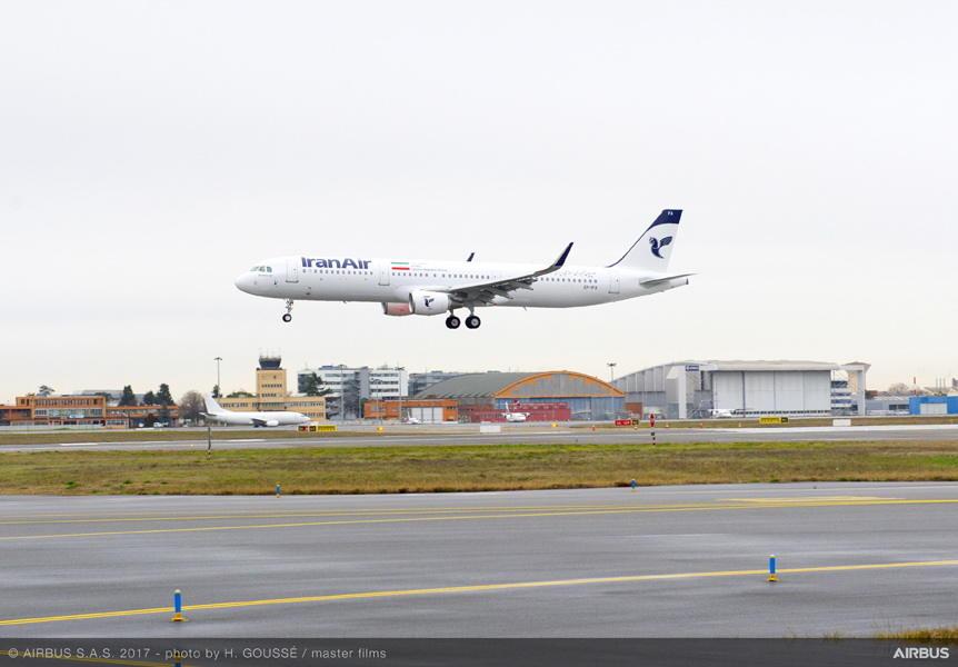 Iran Air réceptionne son premier Airbus