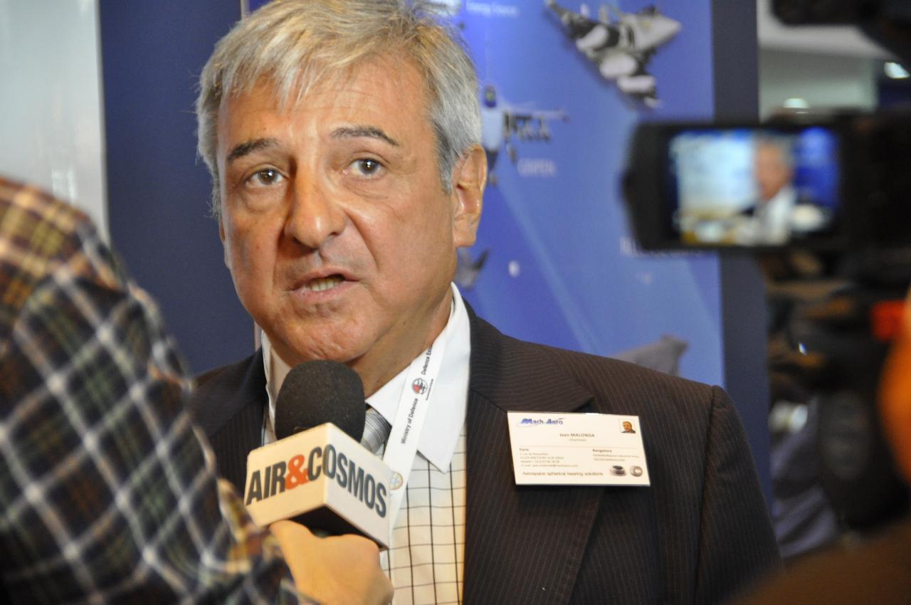 Aero India 2015 : interview de Jean Malonda, Président de Mach Aero