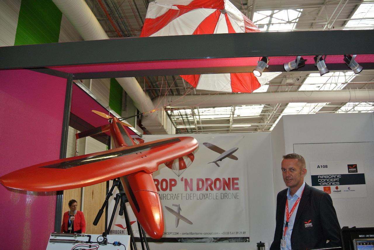 Bourget 2015 : Airborne Concept dévoile son drone aérolargable
