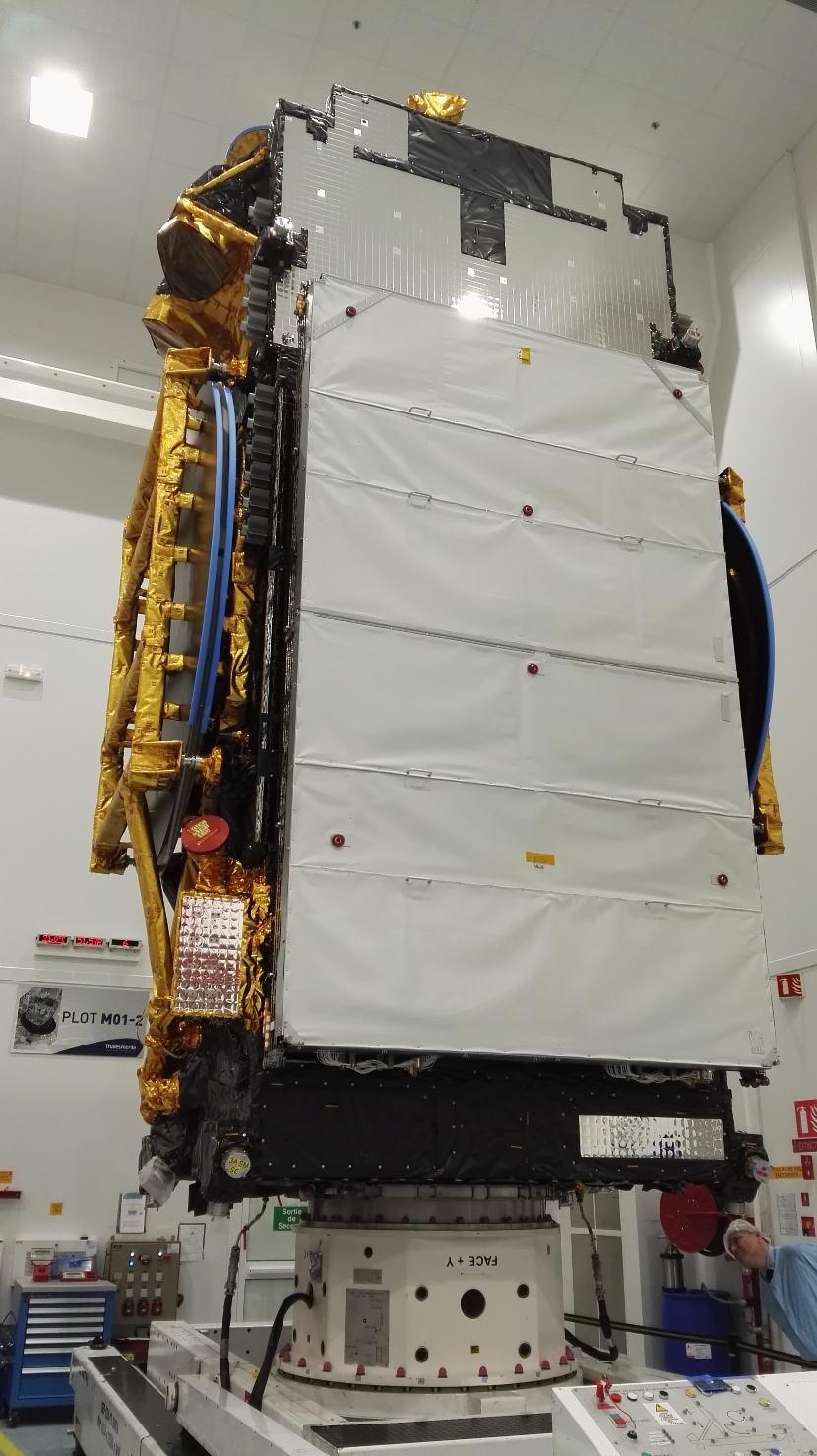 Le satellite SGDC prêt au départ pour la Guyane