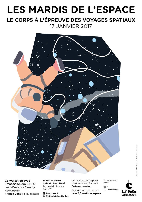 «Le corps à l'épreuve des voyages spatiaux» mardi 17janvier
