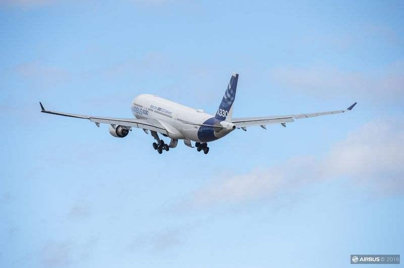 Premier Airbus A330 livré à Tianjin en septembre 2017