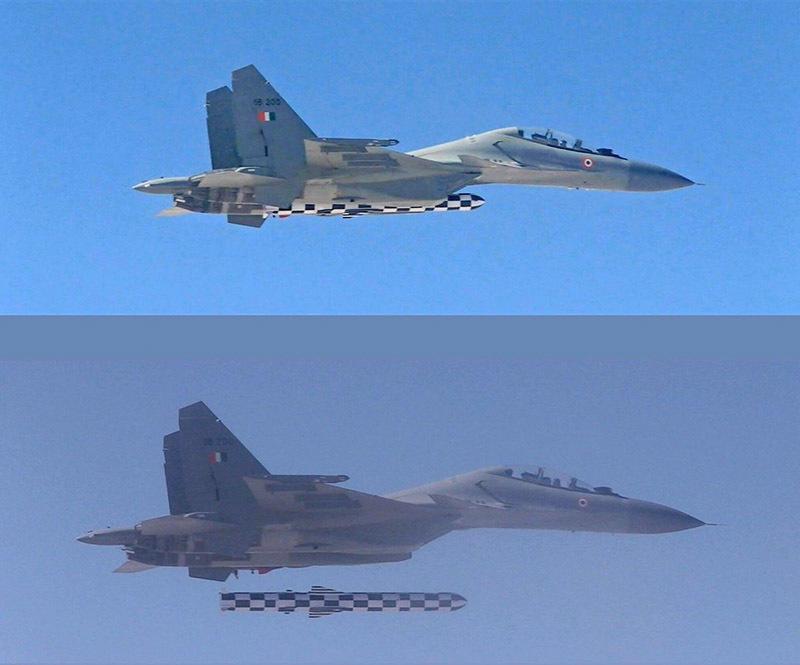 Brahmos test-fired from Su-30MKI