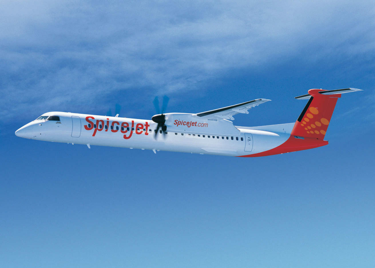 SpiceJet first to receive 90-seat Bombardier Q400