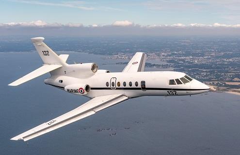 Réception du premier avion de surveillance Falcon 50 Ms adapté aux missions de sauvetage en mer