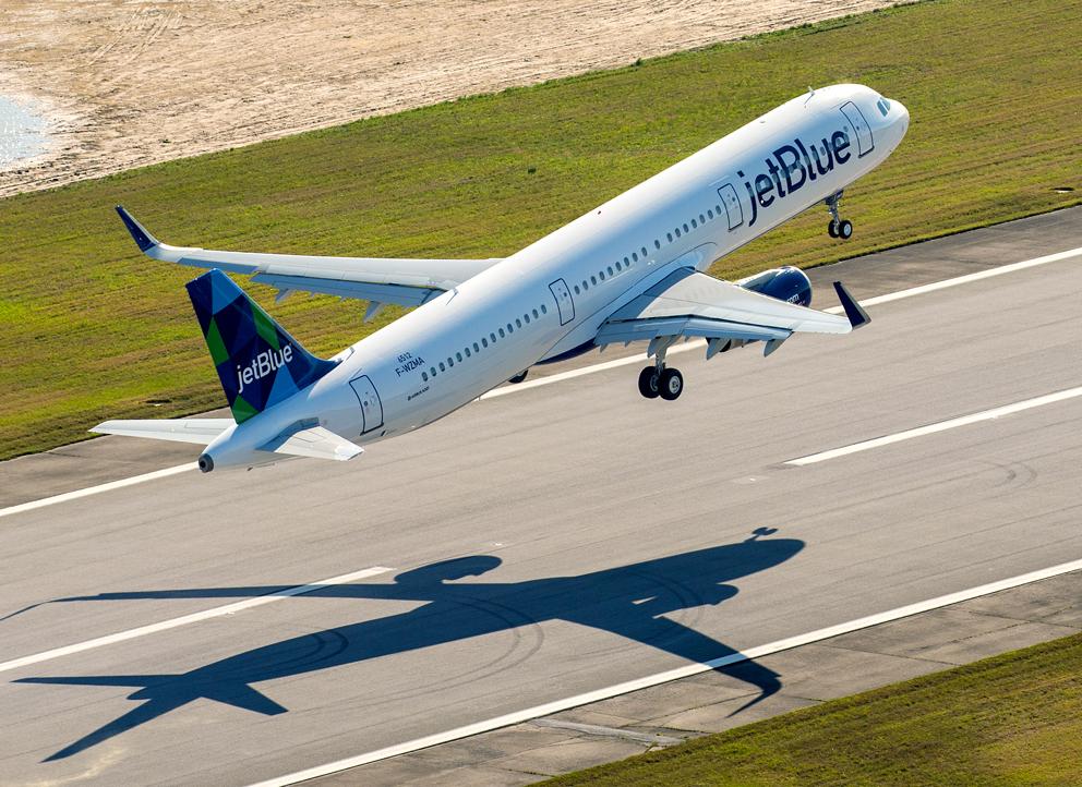 JetBlue prend 30 Airbus A321 supplémentaires et est prête pour l'Europe