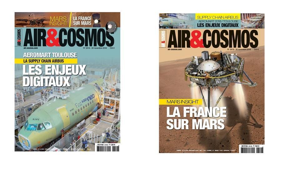 Mars InSight, Supply chain Airbus et enjeux digitaux, Maintenance sur AOG, cette semaine dans Air et Cosmos magazine