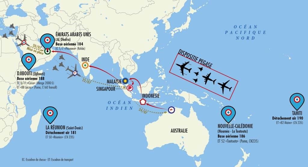 L'Armée de l'Air s'exerce en Asie du Sud-Est