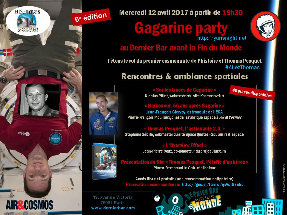 Yuri's Night/Gagarine Party à Paris le 12 avril