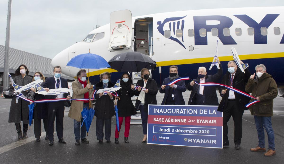 Ryanair inaugure sa nouvelle base à Beauvais-Tillé