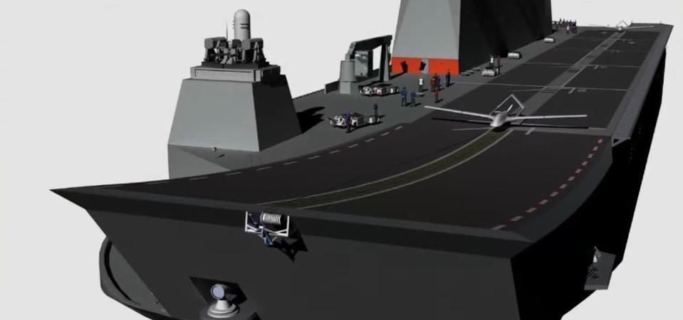 Turquie : Bientôt des drones armés sur le Porte Hélicoptères Anadolu ?