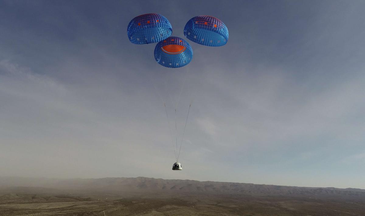 Essai réussi d'un New Shepard en configuration de vol habité