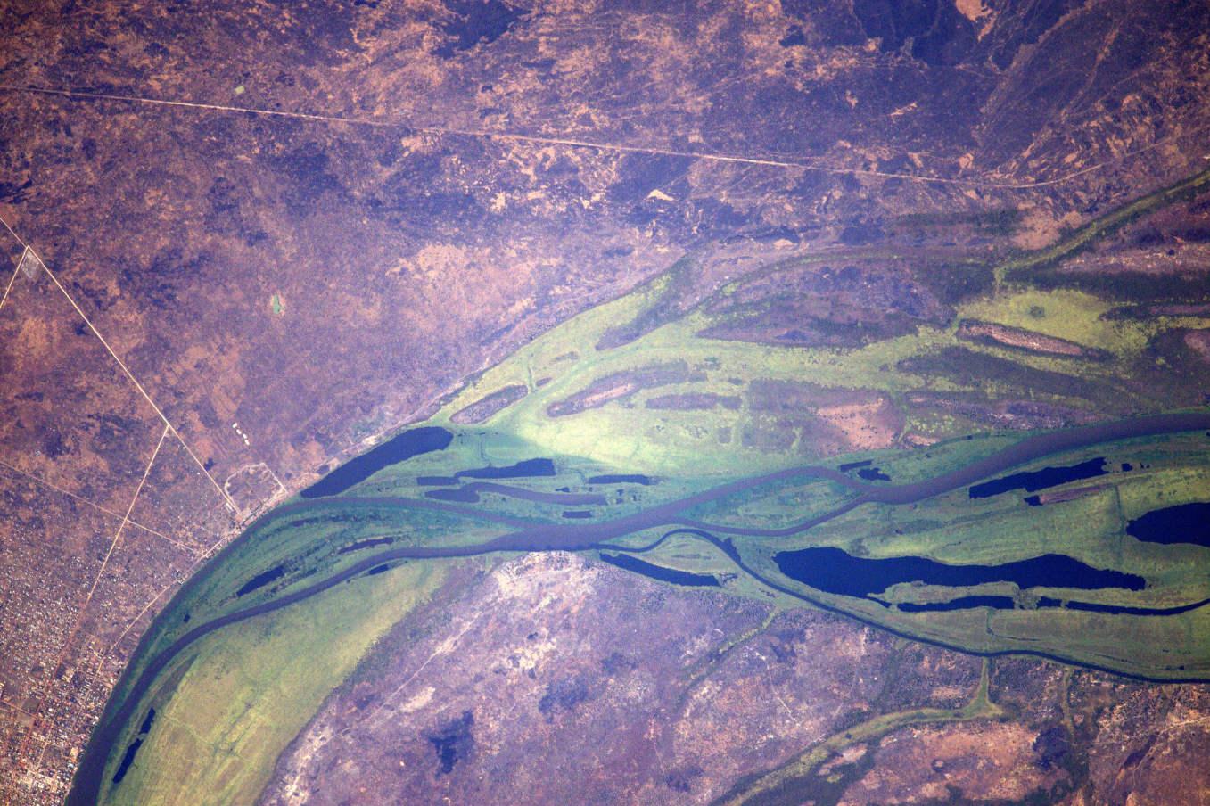 La Terre dans l'oeil de Thomas Pesquet #42 : le Nil blanc à Malakal