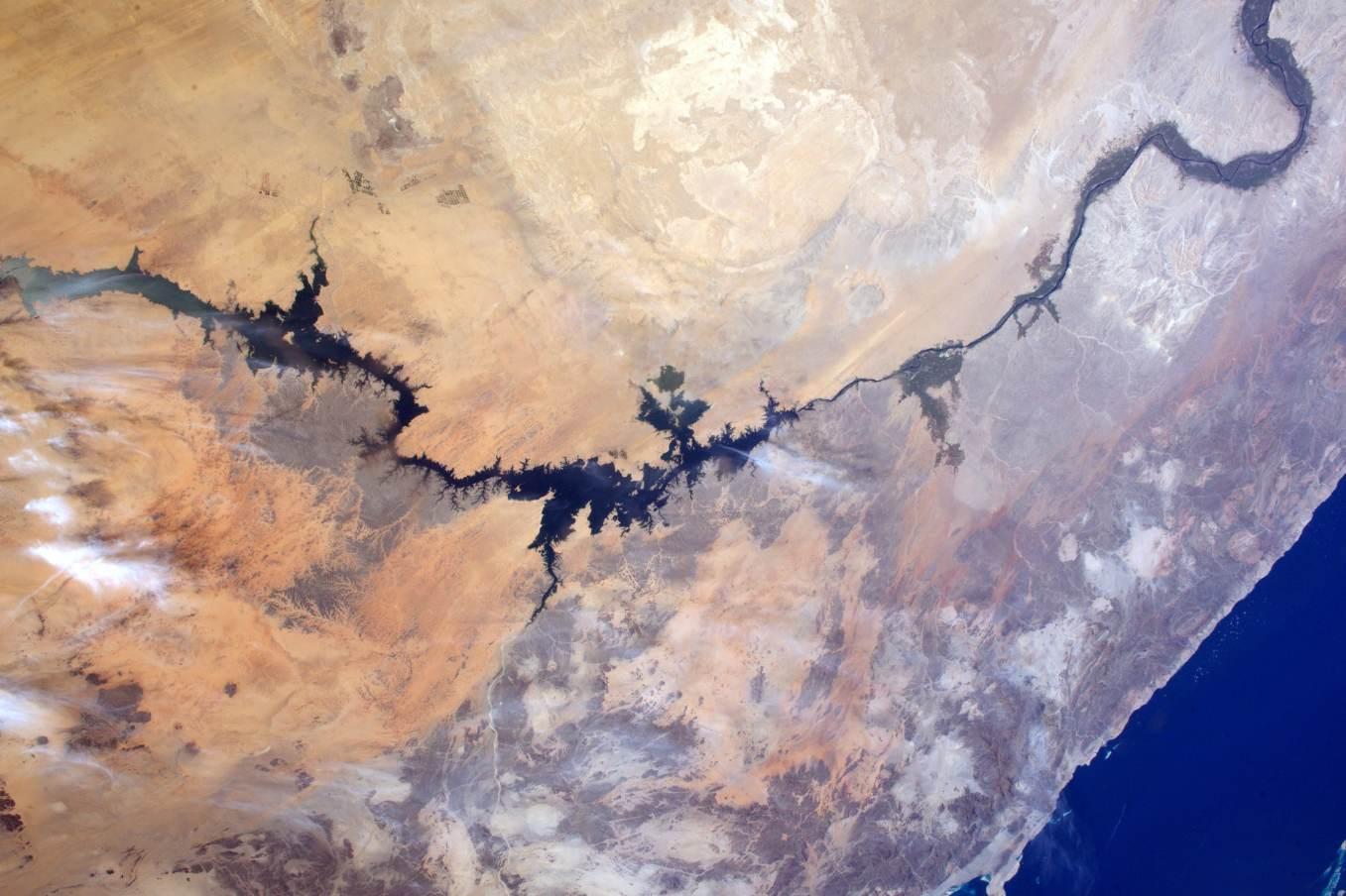 La Terre dans l'oeil de Thomas Pesquet #2 : le lac Nasser et le Nil