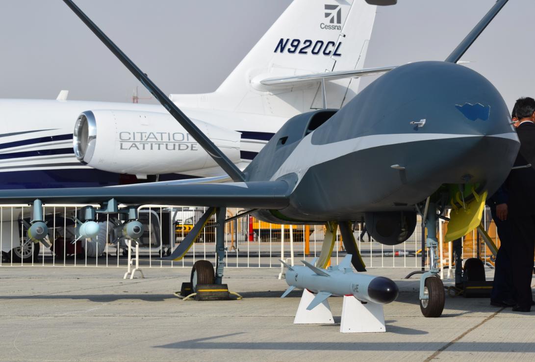 """Dubai Airshow 2017 : La Chine présente le drone """"Cloud Shadow""""."""