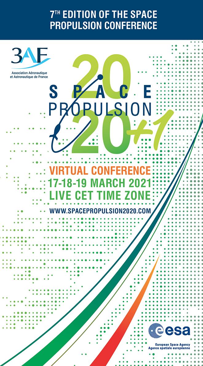 17-19 mars 2021. Participez à la Conférence SPACE PROPULSION 2020+1 en mode virtuel !