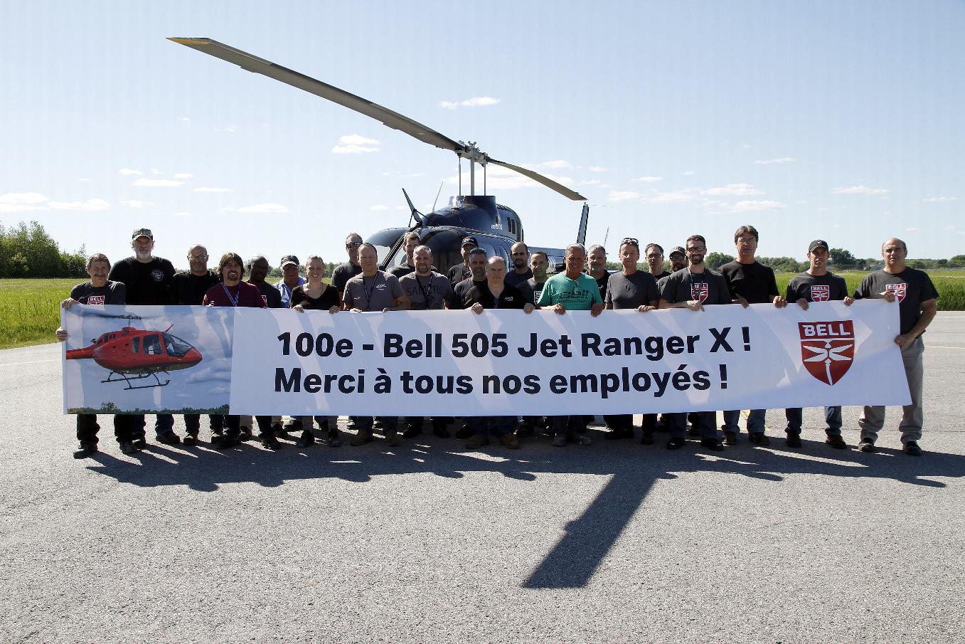 Le centième Bell 505 Jet Ranger X a été livré