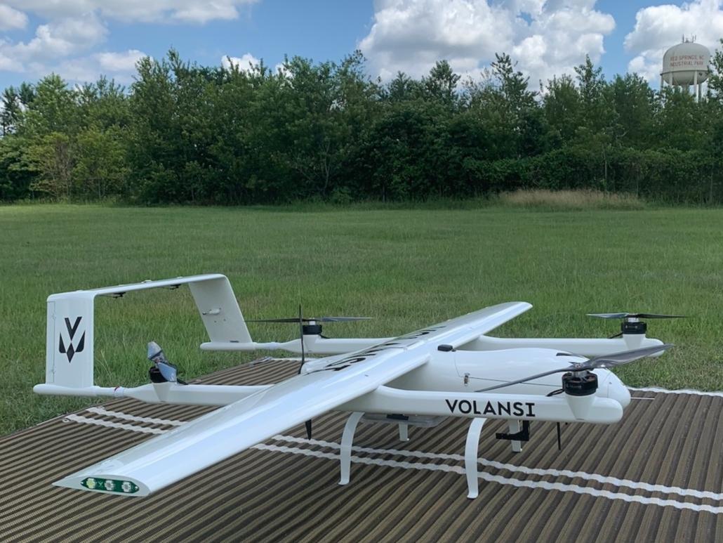 Volansi démarre des livraisons par drones en Caroline du Nord