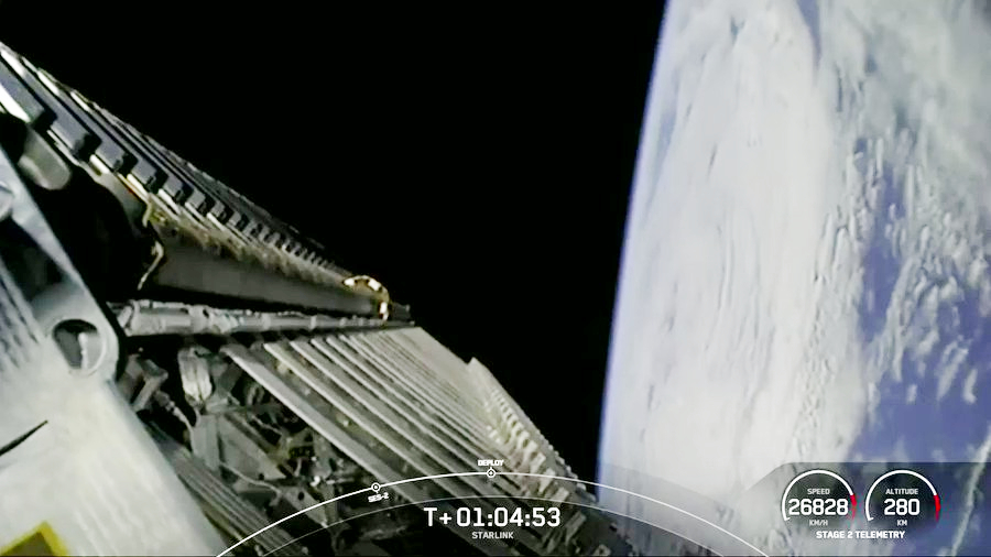 Un vingtième lot de satellites Starlink déployé par SpaceX