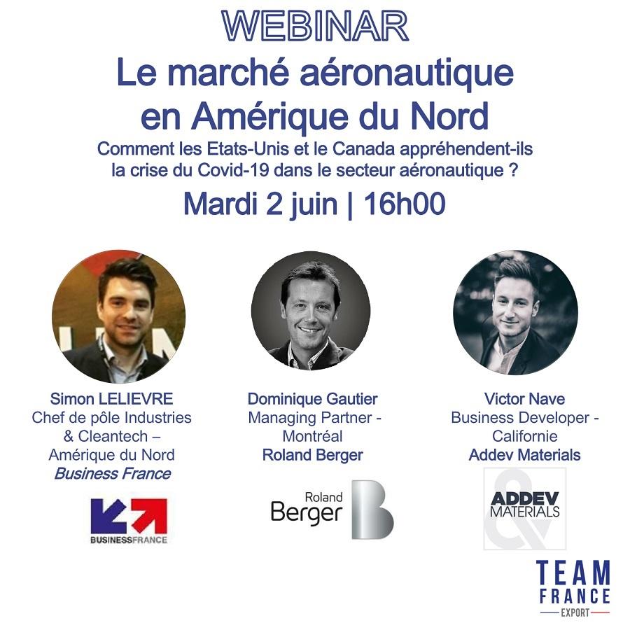 Webinar Team France Export sur le marché aéronautique en Amérique du Nord