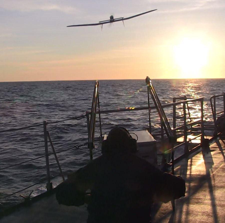 Survey Copter, filiale d'Airbus, équipe en drones la Marine nationale