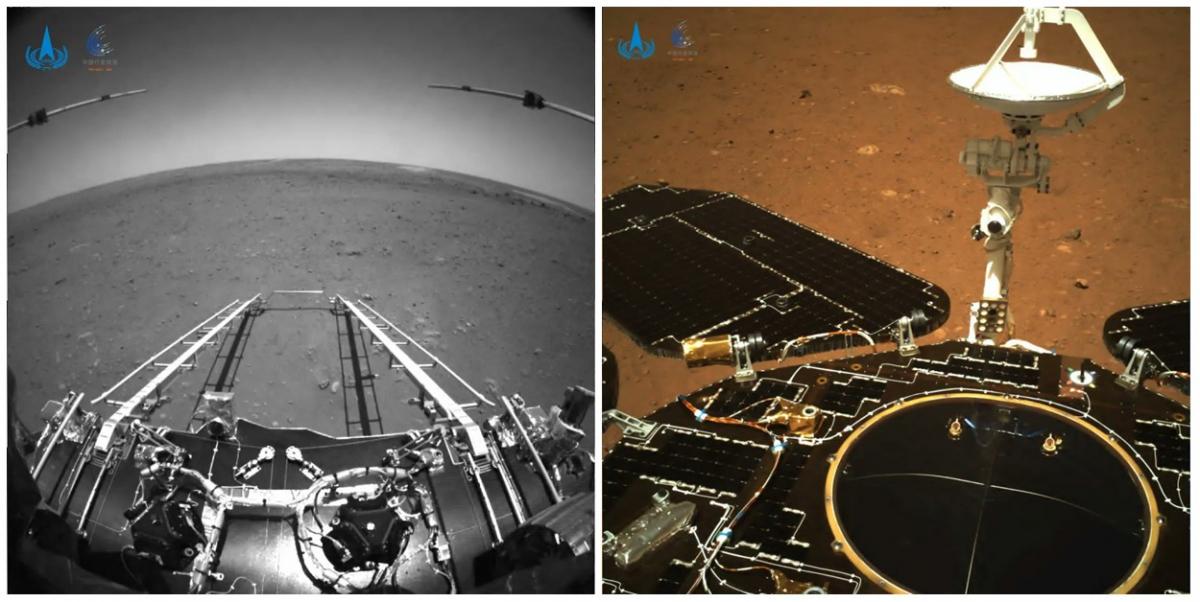 Les premières images du robot chinois Zhurong sur Mars