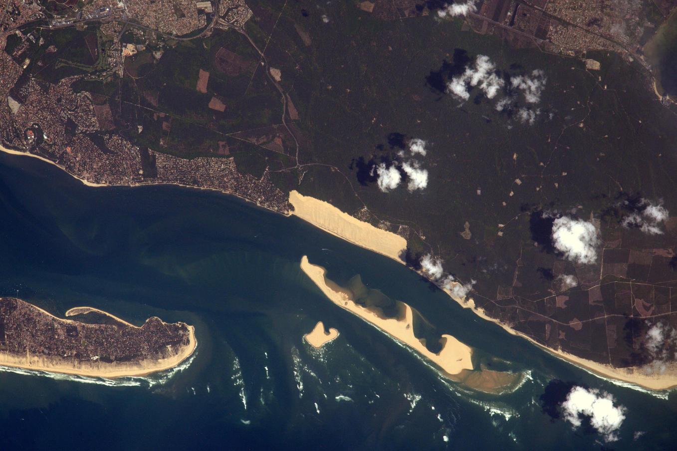 La Terre dans l'oeil de Thomas Pesquet #78 : la dune du Pilat et la côte d'Argent