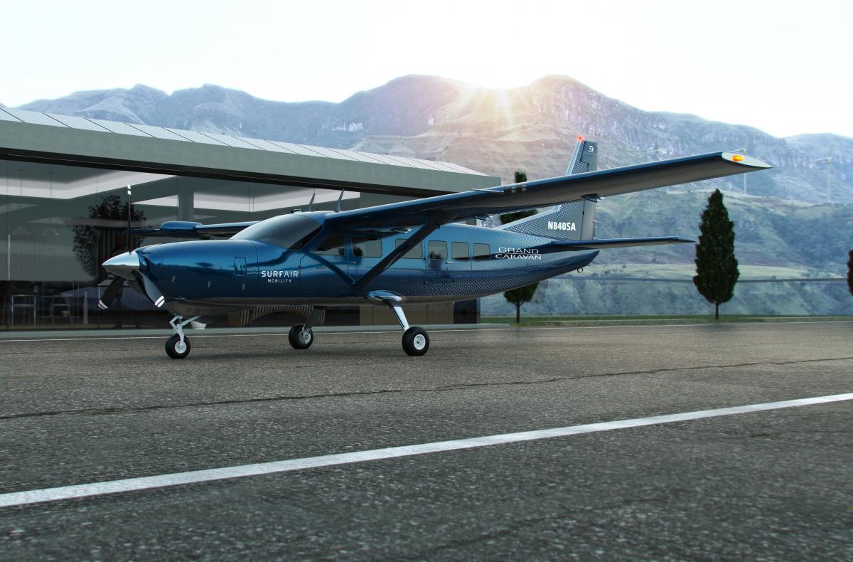 Des Cessna Grand Caravan EX électrifiés pour Surf Air Mobility