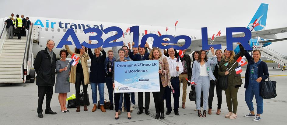 Air Transat reçoit à Bordeaux son nouvel A321neoLR