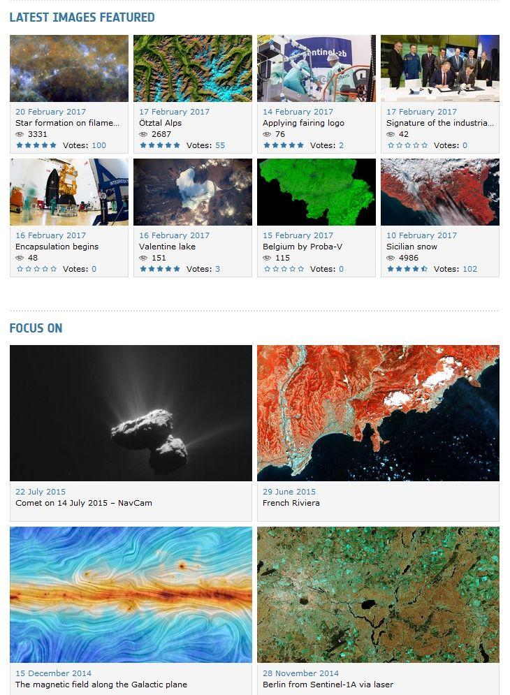 Des images, des vidéos et des données de l'ESA en libre accès