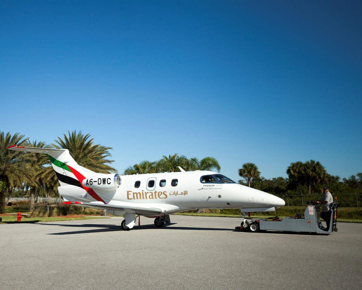 Emirates Flight Training Academy gets first Embraer Phenom 100EV