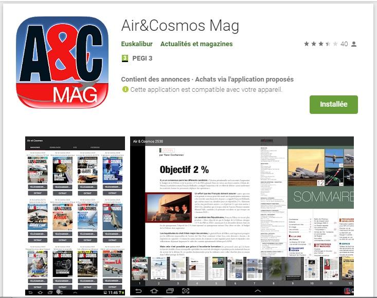 A&C magazine est disponible pour ses abonnés sur l'Application Air&Cosmos Mag